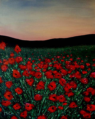 Painting - Evening Poppies by K McCoy