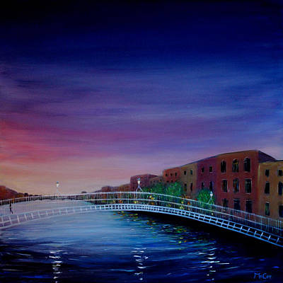 Painting - Evening Reflections Dublin  by K McCoy