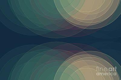 Digital Art - Evening Semi Circle Background Horizontal by Frank Ramspott
