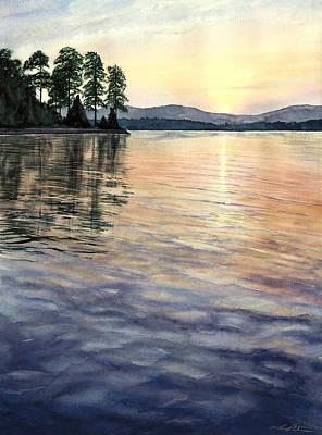 Lake Keowee Painting - Evening Shades by Lane Owen