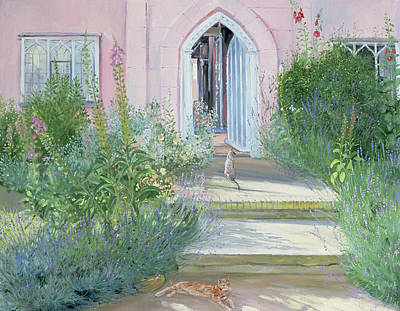 Window Bench Painting - Evening Shadows by Timothy Easton