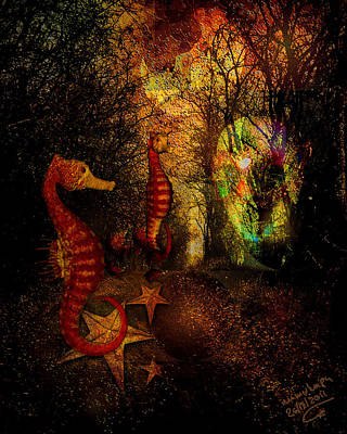 Subconscious Digital Art - Evening Stroll by Mimulux patricia no