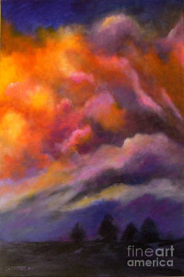 Evening Symphony Print by Alison Caltrider