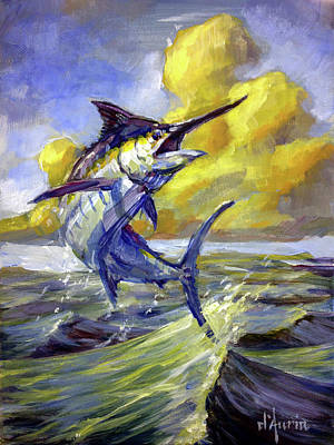 Sharks Painting - Eventide by Tom Dauria