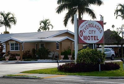 Everglades City Motel Sign Print by David Lee Thompson