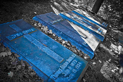 Marble Tomb-stones Photograph - Everlasting Blue  by Colleen Kammerer