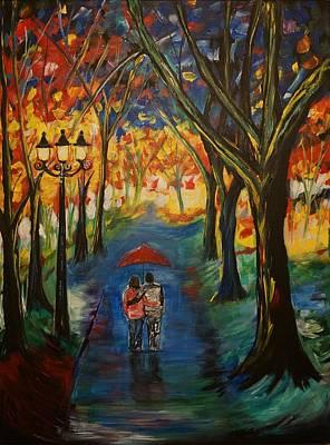 Nightime Painting - Everlasting Love by Leslie Allen