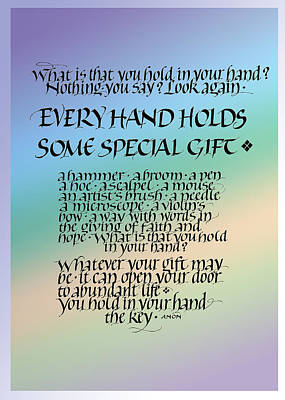 Congratulations Painting - Every Hand by Judy Dodds