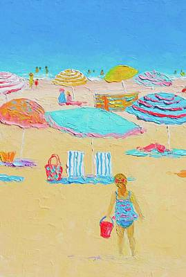 Beach Scenes Painting - Every Summer Has A Story by Jan Matson