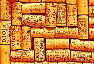 Corks Photograph - Every Which Way Rioja by Clare Bevan