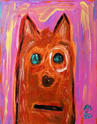 Outsider Art Painting - Everyone Should Have A Dog by Mary Carol Williams