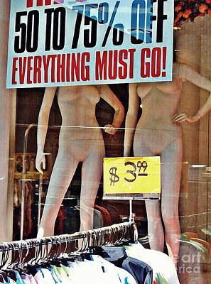 Mannikins Photograph - Everything Must Go by Sarah Loft