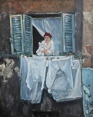 Life In Italy Painting - Everything Under Control by Anna Kowalewicz