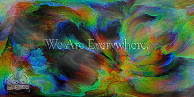 Florescent Lighting Digital Art - Everywhere by Betsy Knapp