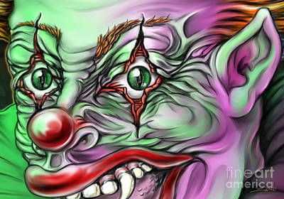 Michael Spano Painting - Evil Clown Eyes by Michael Spano