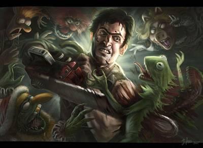 Muppets Painting - Evil Dead Vs. The Muppets by Jeremy Tisler