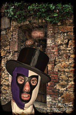 Red Photograph - Evil Pro Wrestling Manager The Masked Conjuror by Jim Fitzpatrick
