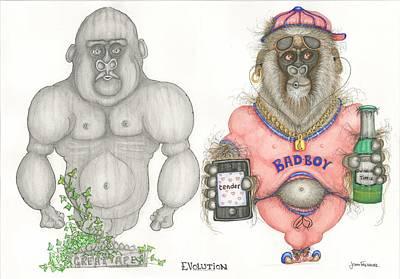 Evolution Print by John Faulkner