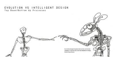 Evolution Vs Creation Print by Soran Shangapour