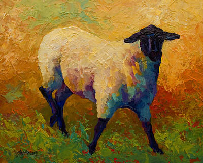 Llama Painting - Ewe Portrait Iv by Marion Rose