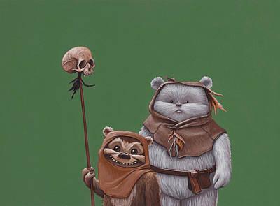 Jasper Painting - Ewoks by Jasper Oostland