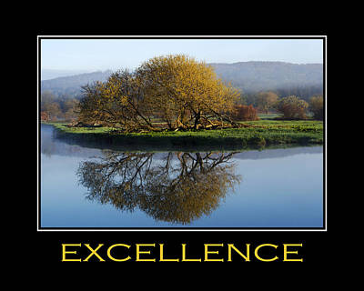 Excellence Inspirational Motivational Poster Art Print by Christina Rollo