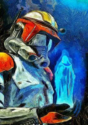 Chewbacca Painting - Execute Order 66 - Van Gogh Style by Leonardo Digenio
