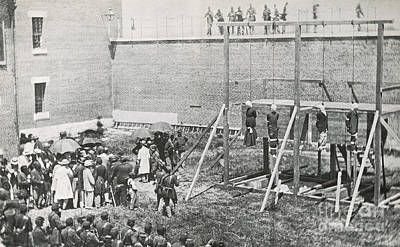Mary Powell Photograph - Execution Of The Booth Conspirators by Photo Researchers