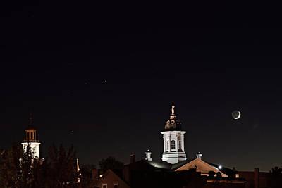 Exeter By Moonlight Print by Joe  Biladeau
