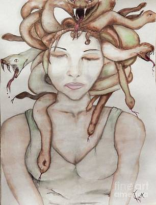 Gorgon Painting - Exiled by Amy Denehy Kapost