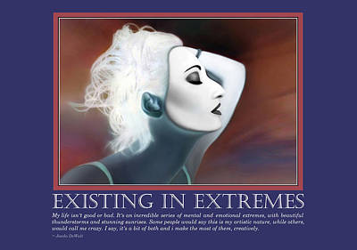 Manic Photograph - Existing In Extremes by Jaeda DeWalt