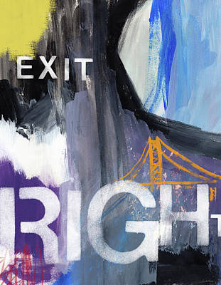 Bridges Mixed Media - Exit Right- Art By Linda Woods by Linda Woods