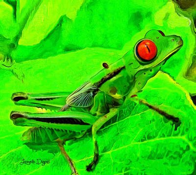 Grasshopper Painting - Exotic Nature by Leonardo Digenio
