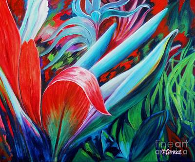 Carolinestreet Painting - Exotica by Caroline Street
