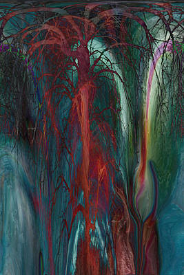 Experimental Tree Print by Linda Sannuti