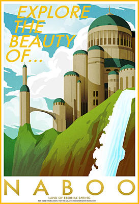 Galactic Digital Art - Explore Naboo by Christopher Ables