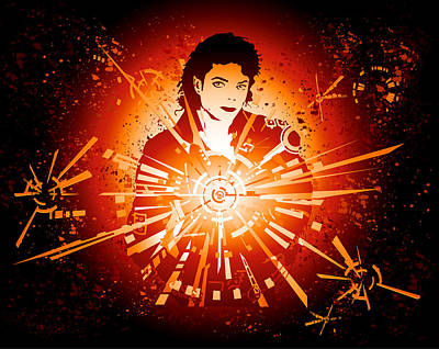 Energy Force Of Michael Jackson Print by Adz Akin