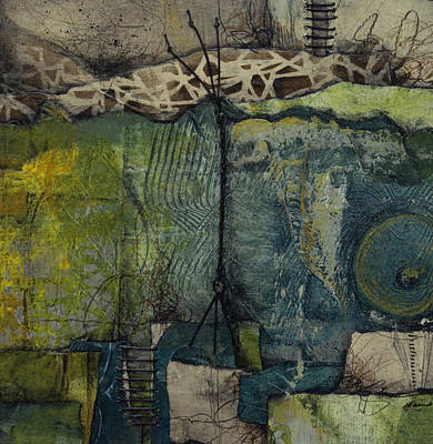 Paper Mixed Media - Exposed Roots by Laura Lein-Svencner