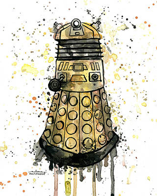 Dr. Who Painting - Exterminate by Arleana Holtzmann