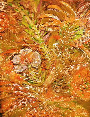 Extravaganza Orange Print by Anne-Elizabeth Whiteway