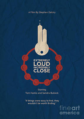 Loud Mixed Media - Extremely Loud And Incredibly Close Minimalist Movie Poster by Celestial Images