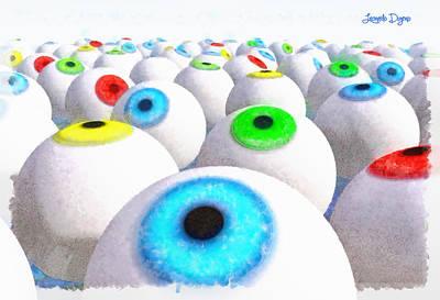 Signed Painting - Eye Farming And Growing - Pa by Leonardo Digenio