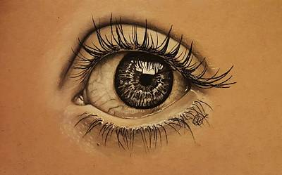 Reflective Drawing - eye by Gilca Rivera