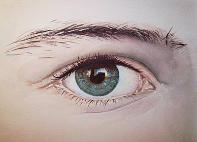 Eye Brows Painting - Eye by Irina Sztukowski