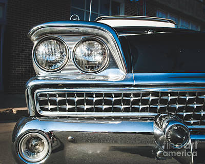 Photograph - Eye Of A Ford Fairlane by Sonja Quintero