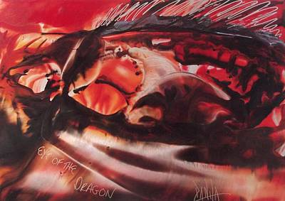Encaustic Painting - Eye Of The Dragon by Danita Cole