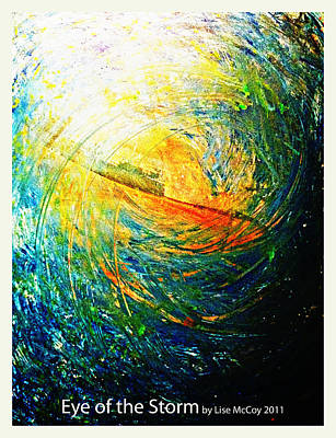 Water Filter Painting - Eye Of The Storm by AnneLise McCoy