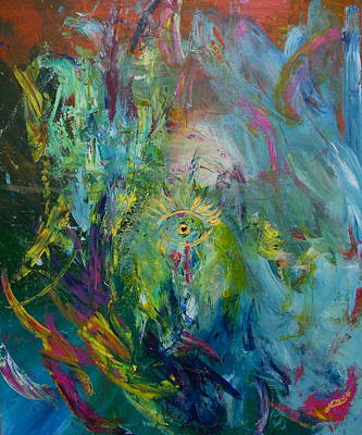 Abstract Painting - Eye Of The Storm by L'ren Knorr