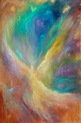 Celestial Painting - Eye Of The Universe by Sally Seago