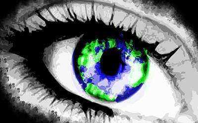 Creation Mixed Media - Eye Of The World by Danielle Kasony